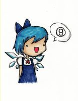 Cirno the Ice Fairy by HappehCakes