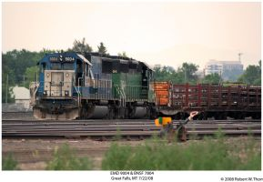EMD 9004 and BNSF 7804 by hunter1828