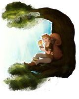 Commission: The Unbeatable Squirrel Girl by FlockofFlamingos