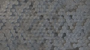 Hexagons Radial Grey 4k by scifinity