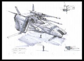 .:Ship Sketch- 60:. by David-Holland