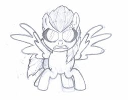 Adam Jensen ponified, Ready to strike (wip) by R1pperAnthon
