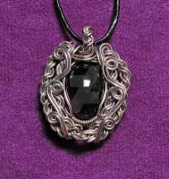 Silver Tudor Amethyst Pendant by MorrighanGW