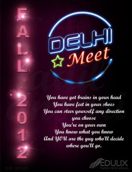 Fall 2012 delhi meet poster by adilansari
