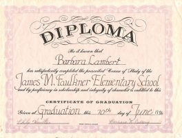 Elementary School Diploma by CaptainJackHarkness