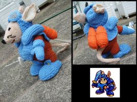 Rocket Knight cuddly toy pic2 by ThePrinceofMars