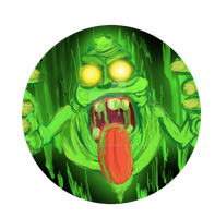 Slimer button by Shinyako