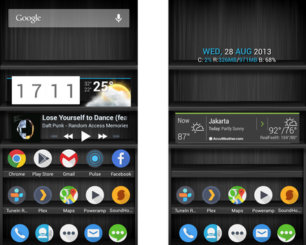 My Android Homescreen [Aug 2013] by FlipOut69