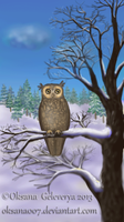 Owl of a Season -in the winter by Oksana007
