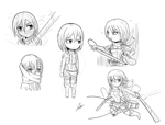 Doodle Bundle: Mikasa by Alulle