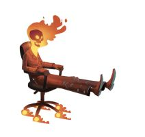 Office Chair Ghost Rider by bear65