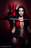 Deadpool and Harley Quinn Cosplay (Duo) by Moscou