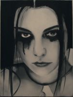 Amy Lee - Black and white by Spiderfall
