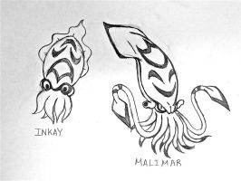 Project Fakemon: Inkay and Malimar by XXD17