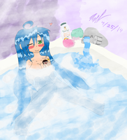 Konata and the Steamingly Hot Bath Experience by AxelDK64