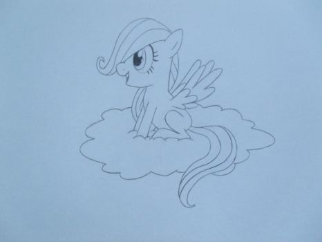 Contest Entry: Filly Fluttershy by MakinBaconPancakes