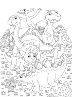 Dinosaurs in the valley Line art by MCsaurus