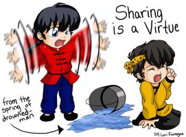 Ranma - Sharing is a Virtue by irishgirl982