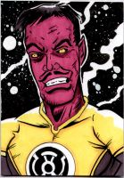 Sinestro sketch card by The-Standard