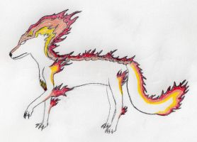 Contest - Fire wolf by ZytonX