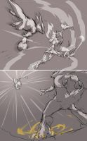 dramatic battle sketches by Namh