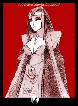 oldart ancient vampire scarlet by tiocleiton