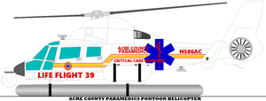 Acre County Paramedics Pontoon Helicopter by mcspyder1
