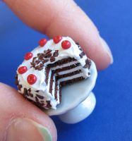 Black Forest Cake Dollhouse Mini by MyLitteLunchBox