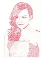 Naya Rivera - Pointillism by MeikeZane