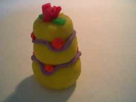 Yellow wedding cake by Joy-Pedler