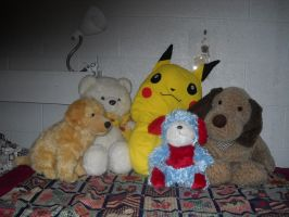 Family Portrait #1 (stuffed animals) by InsanePaintStripes