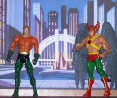 dcuc aquaman and hawkman by nightwing70