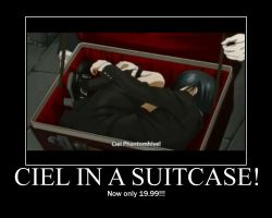 Ciel in a suitcase by deideifg
