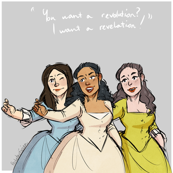 The Schuyler Sisters by steamedpeaches