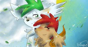 shaymins by Gie