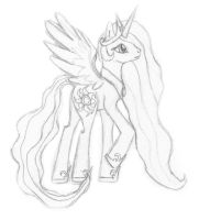 Princess Celestia Sketch by shadowjess