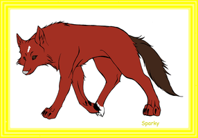 Sparky Horse Ranch Horse Wolf by GothicRockerGirl