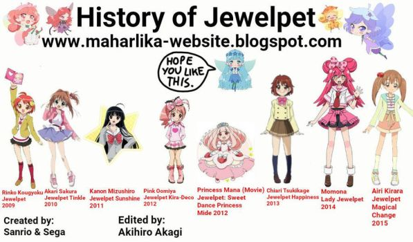 History of Jewelpet: 2009 to 2015 by stick-the-badger