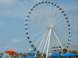 Ferris Wheel at the pier by LexyLou16