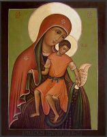 "Icon of Divine Mother ""Merciful"" by Ferrabra"