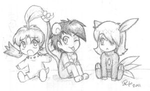 GSC chibi cosplay -uncolored-