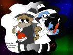 Mordecai and Rigby as Spy vs Spy by FanChaosLevel3