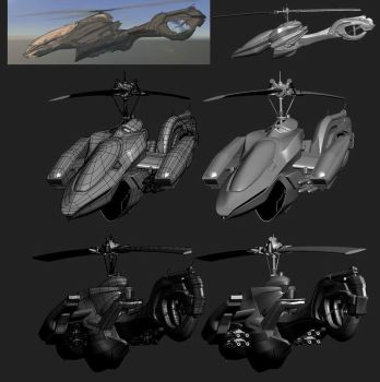 Concept Gunship by mahircelik