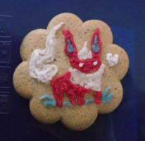 Flareon Gingerbread by Flarezi