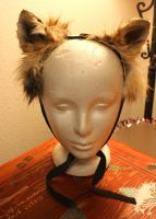 New fox and coyote ears - 8-13-13 by lupagreenwolf