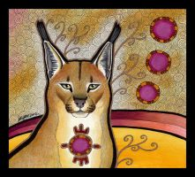 Caracal as Totem by Ravenari