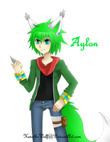 Aylon official Anime design by KenotheWolf