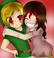 Ben Drowned x Sally by XCreppyGirlX