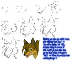 Wolf Head tutorial by lvdragon