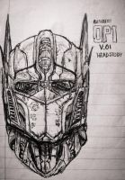 Optimus Prime: Headstudy by RedJack-Nine